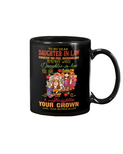 MUG - TO MY DAUGHTER-IN-LAW - HIPPIE - CROWN