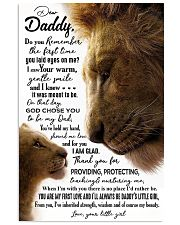 POSTER - TO MY DAD - LION - DO YOU REMEMBER 16x24 Poster front