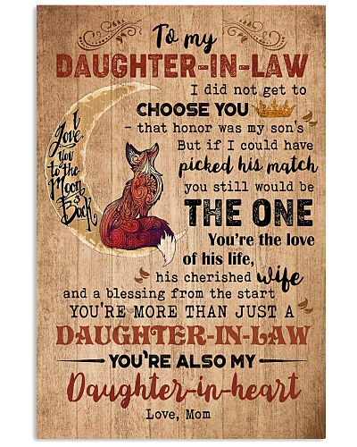 TO MY DAUGHTER-IN-LAW - FOX - THE ONE