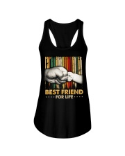 Papa and granddaughter Best friends for life Ladies Flowy Tank thumbnail