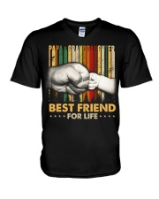 Papa and granddaughter Best friends for life V-Neck T-Shirt thumbnail