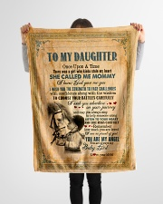 """To Daughter - Once Upon A Time There Was A Girl  Small Fleece Blanket - 30"""" x 40"""" aos-coral-fleece-blanket-30x40-lifestyle-front-14"""