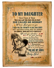 """To Daughter - Once Upon A Time There Was A Girl  Small Fleece Blanket - 30"""" x 40"""" front"""
