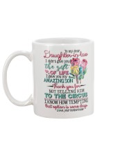TO MY DAUGHTER-IN-LAW - PROTEA FLOWER - CIRCUS Mug back