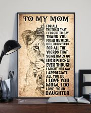 TO MY MOM - LION - THANK YOU 16x24 Poster lifestyle-poster-2