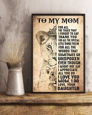 TO MY MOM - LION - THANK YOU 16x24 Poster lifestyle-poster-3