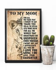TO MY MOM - LION - THANK YOU 16x24 Poster lifestyle-poster-8