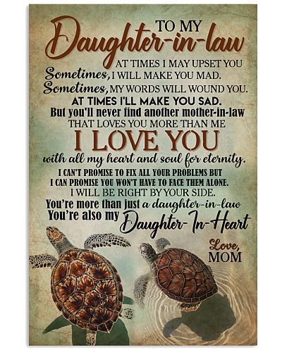 TO MY DAUGHTER-IN-LAW - TURTLE - I LOVE YOU