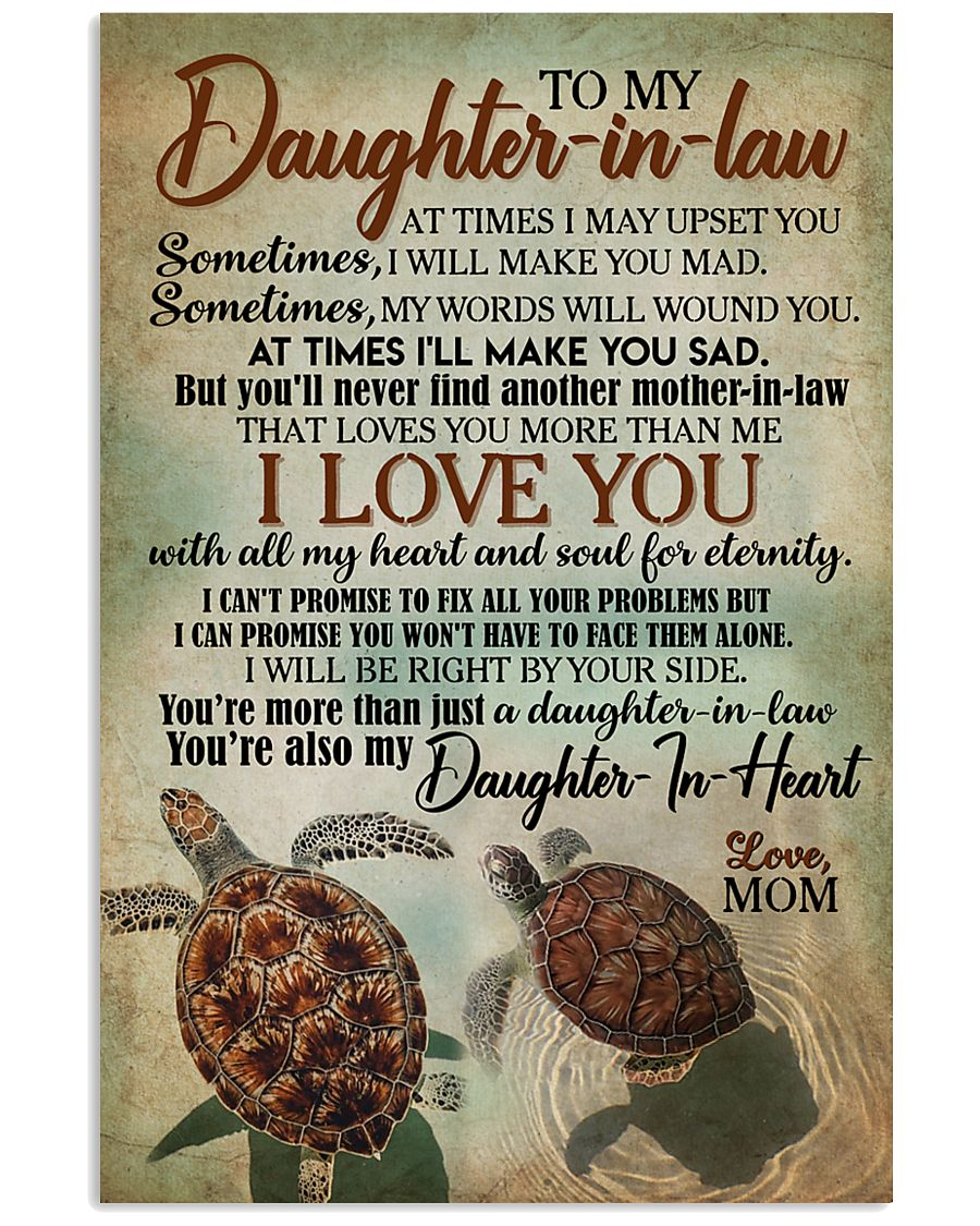 TO MY DAUGHTER-IN-LAW - TURTLE - I LOVE YOU 16x24 Poster