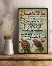 TO MY DAUGHTER-IN-LAW - TURTLE - I LOVE YOU 16x24 Poster lifestyle-poster-3