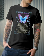 T-SHIRT - MY ANGEL HUSBAND - BUTTERFLY - MISS YOU Classic T-Shirt lifestyle-mens-crewneck-front-6