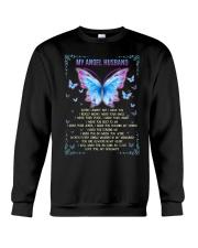 T-SHIRT - MY ANGEL HUSBAND - BUTTERFLY - MISS YOU Crewneck Sweatshirt thumbnail