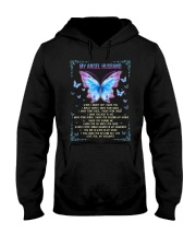 T-SHIRT - MY ANGEL HUSBAND - BUTTERFLY - MISS YOU Hooded Sweatshirt thumbnail