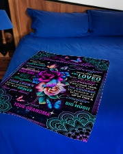 "Grandma to Granddaughter - All Your Dreams  Small Fleece Blanket - 30"" x 40"" aos-coral-fleece-blanket-30x40-lifestyle-front-02"