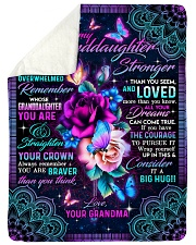 "Grandma to Granddaughter - All Your Dreams  Large Sherpa Fleece Blanket - 60"" x 80"" thumbnail"