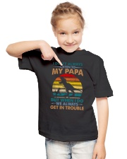 GRANDSON  - I DON'T ALWAYS LISTEN TO MY PAPA Youth T-Shirt lifestyle-youth-tshirt-front-2