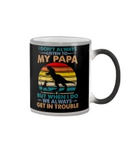 GRANDSON  - I DON'T ALWAYS LISTEN TO MY PAPA Color Changing Mug thumbnail