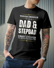 Tough enough to be a dad and stepdad Classic T-Shirt lifestyle-mens-crewneck-front-6