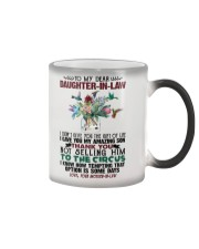 DAUGHTER-IN-LAW - PROTEA - HUMMINGBIRD - CIRCUS Color Changing Mug tile