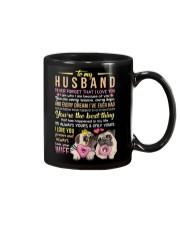 MUG - TO MY HUSBAND - PUG - I LOVE YOU Mug front