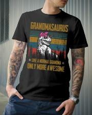 GRANDMA- SAURUS - AWESOME Classic T-Shirt lifestyle-mens-crewneck-front-6