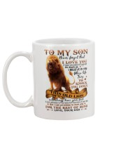 Dad to Son - Lion - Never Forget That I Love You Mug back