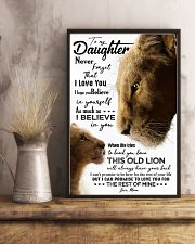 TO MY DAUGHTER - LIONESS - NEVER FORGET THAT 16x24 Poster lifestyle-poster-3