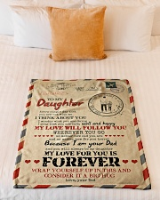 """Dad To Daughter - You Are Not With me Small Fleece Blanket - 30"""" x 40"""" aos-coral-fleece-blanket-30x40-lifestyle-front-04"""