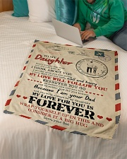 """Dad To Daughter - You Are Not With me Small Fleece Blanket - 30"""" x 40"""" aos-coral-fleece-blanket-30x40-lifestyle-front-07"""