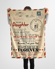 """Dad To Daughter - You Are Not With me Small Fleece Blanket - 30"""" x 40"""" aos-coral-fleece-blanket-30x40-lifestyle-front-14"""