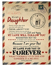 """Dad To Daughter - You Are Not With me Small Fleece Blanket - 30"""" x 40"""" front"""