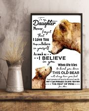 POSTER - TO MY DAUGHTER - BEAR - NEVER 16x24 Poster lifestyle-poster-3