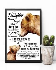 POSTER - TO MY DAUGHTER - BEAR - NEVER 16x24 Poster lifestyle-poster-8