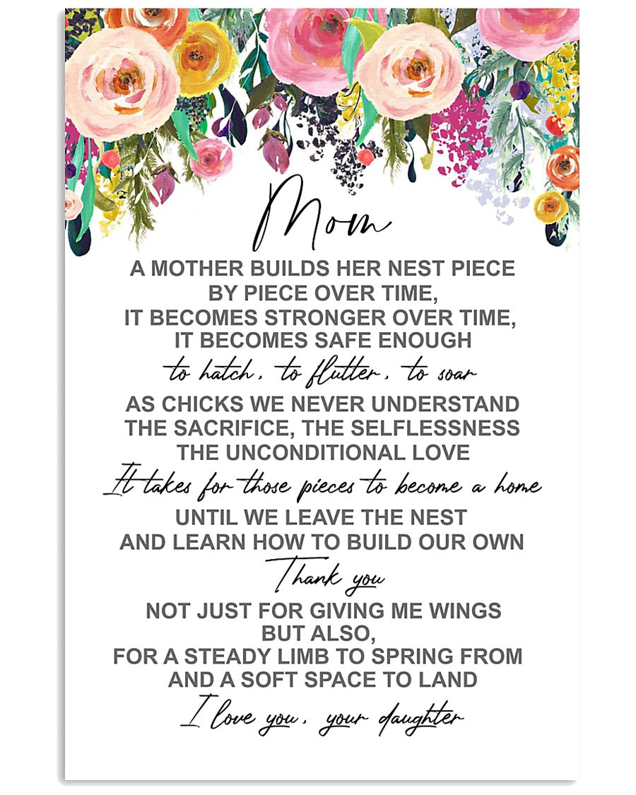POSTER - TO MY MOM - FLOWER 16x24 Poster