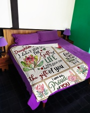"""MOM TO DAUGHTER IN LAW Large Fleece Blanket - 60"""" x 80"""" aos-coral-fleece-blanket-60x80-lifestyle-front-01"""