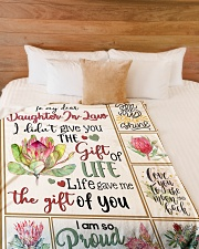 """MOM TO DAUGHTER IN LAW Large Fleece Blanket - 60"""" x 80"""" aos-coral-fleece-blanket-60x80-lifestyle-front-02"""