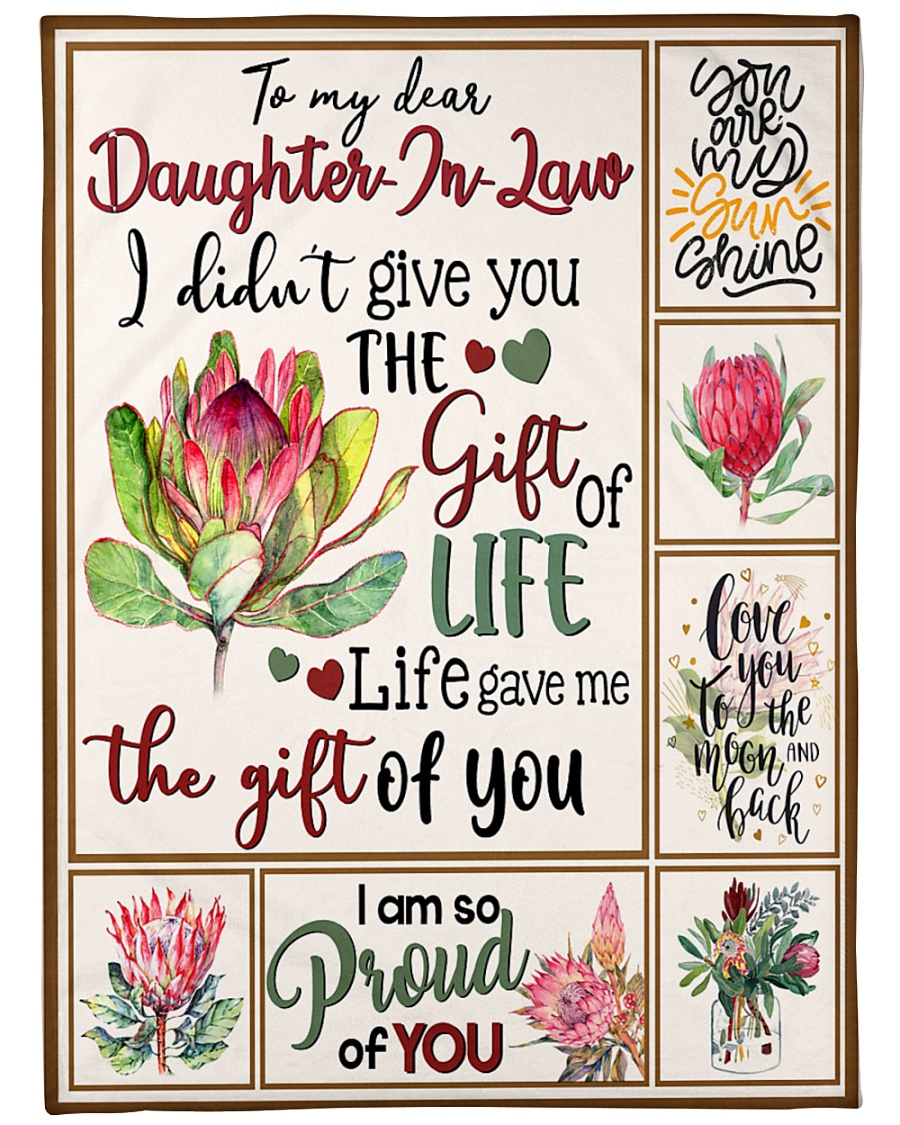 "MOM TO DAUGHTER IN LAW Large Fleece Blanket - 60"" x 80"""
