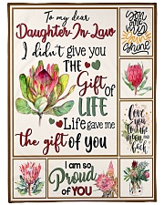 "MOM TO DAUGHTER IN LAW Large Fleece Blanket - 60"" x 80"" front"