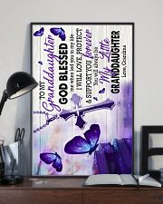 To Granddaughter - God Blessed Me When Led You 16x24 Poster lifestyle-poster-2