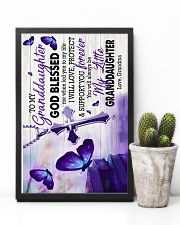 To Granddaughter - God Blessed Me When Led You 16x24 Poster lifestyle-poster-8