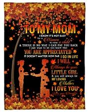 To My Mom - Autumn - Fleece Blanket Fleece Blanket tile