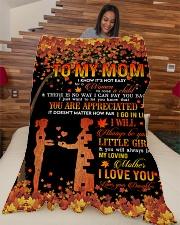 """To My Mom - Autumn - Fleece Blanket Large Fleece Blanket - 60"""" x 80"""" aos-coral-fleece-blanket-60x80-lifestyle-front-04"""