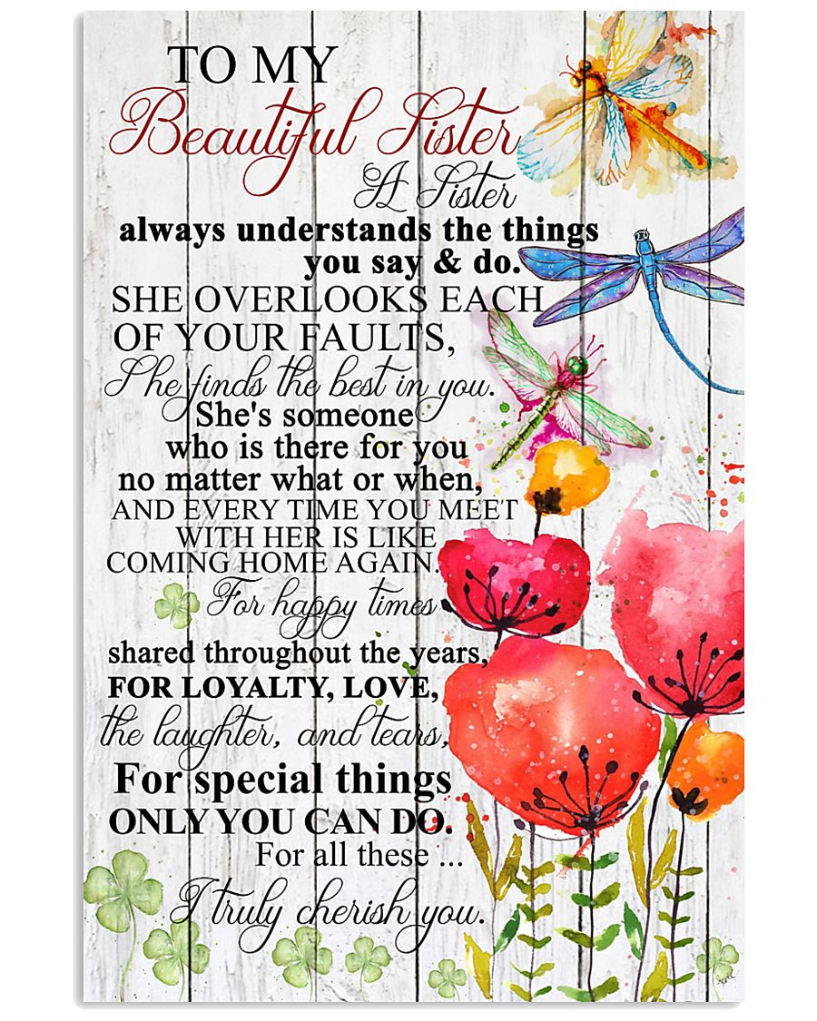 TO MY BEAUTIFUL SISTER 16x24 Poster