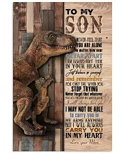 Saurus - T rex - Never Feel That You Are Alone  11x17 Poster thumbnail