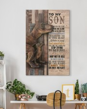 Saurus - T rex - Never Feel That You Are Alone  20x30 Gallery Wrapped Canvas Prints aos-canvas-pgw-20x30-lifestyle-front-03