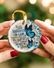 To My Daughter-in-law - Butterfly - Gift of Life  Circle ornament - single (porcelain) aos-circle-ornament-single-porcelain-lifestyles-08