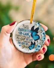 To My Daughter-in-law - Butterfly - Gift of Life  Circle ornament - single (porcelain) aos-circle-ornament-single-porcelain-lifestyles-09