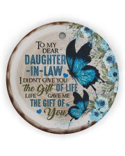 To My Daughter-in-law - Butterfly - Gift of Life  Circle Ornament (Wood tile