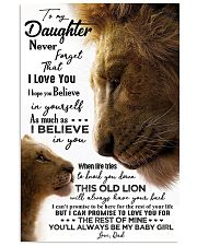 TO MY DAUGHTER - LION - BABY GIRL 16x24 Poster front