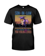 SON-IN-LAW - DRAGON -VINTAGE - YOU VOLUNTEERED Classic T-Shirt front